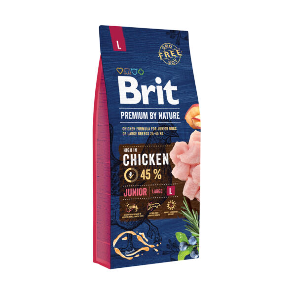 Brit Premium Junior Large friss csirke 15 kg