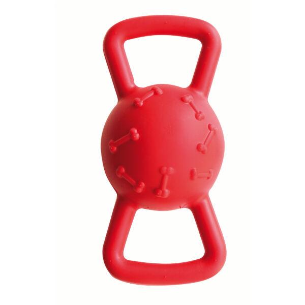 RECORD PLAYER ONE kutyajáték, erős, de könnyű sípoló labda fogantyúval 17cm