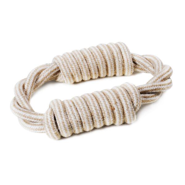 RECORD Natural cotton kutyajáték juta kötélgyűrű 18cm