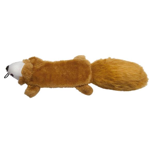 RECORD Kutyajáték plüss, sípoló mókus 40cm