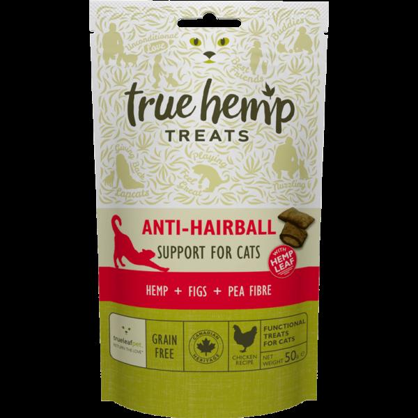 True Hemp Anti Hairball Cat treats - jutalomfalat macskáknak - szőrlabda képződés ellen - 50 g