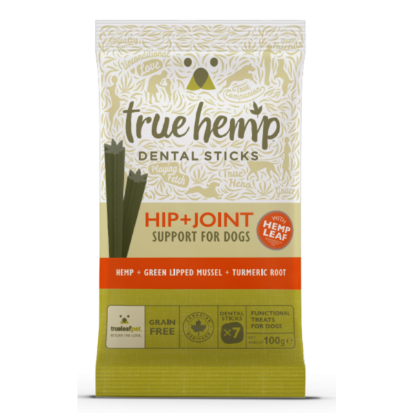 True Hemp Dog Dental Sticks Hip+Joint 100g
