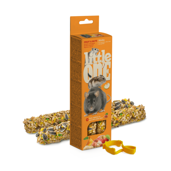 Little One Dupla Rúd  Kisemlősöknek gyümölccsel és mogyoróval 2x60 g