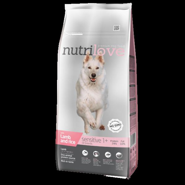 Nutrilove Monoprotein bárány 12 kg Adult