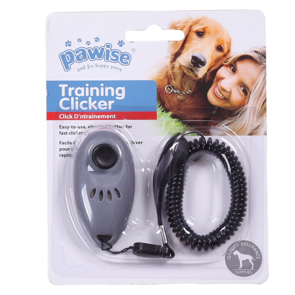 PAWISE Tréning Clicker zsinorral 7x3.5cm