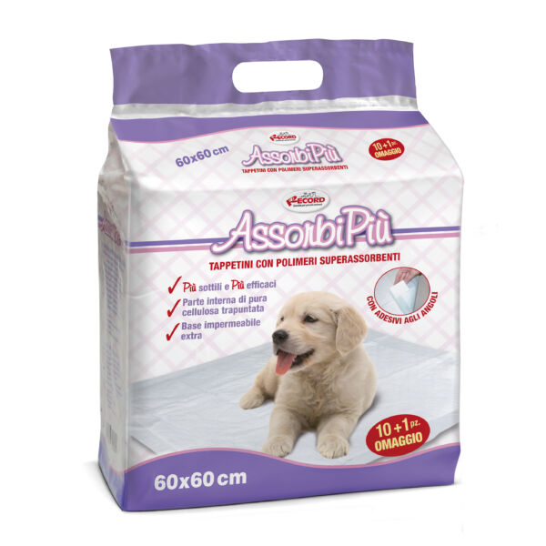 """AssorbiPiu kutyapelenka """"M"""" 60x60 cm 11 db/cs"""