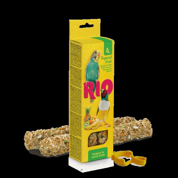 RIO Dupla Rúd Kiegészítő Madáreleség Trópusi Gyümölcsökkel Hull.Papagájoknak és Exotáknak 2x40 g