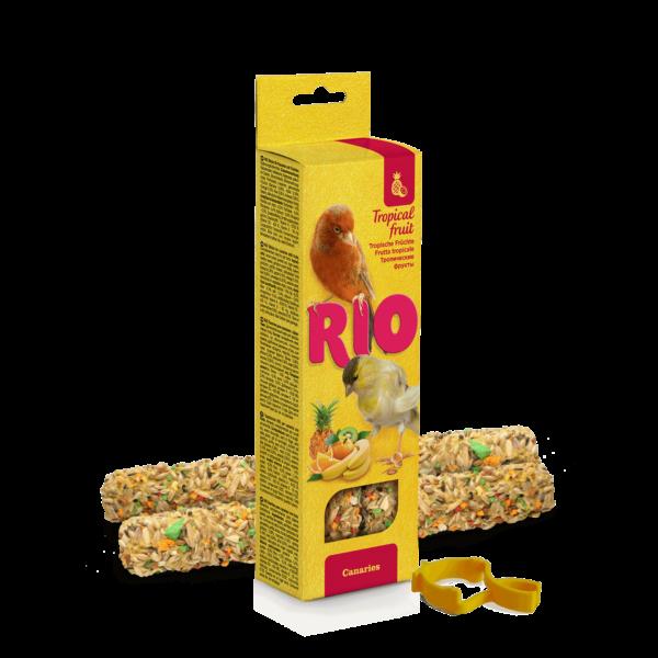 RIO Dupla Rúd Kiegészítő madáreleség trópusi gyümölcsökkel kanáriknak 2x40 g