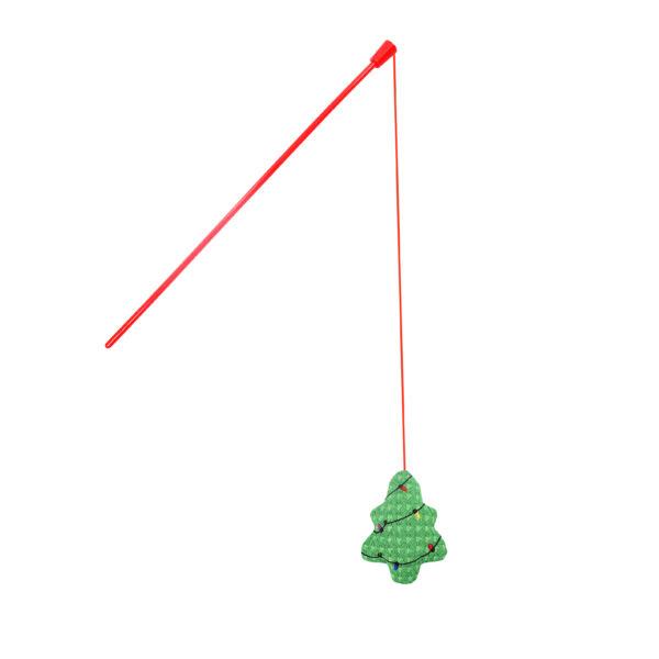 RECORD Karácsonyi Macskajáték Botos Karácsonyfa 10x43 cm