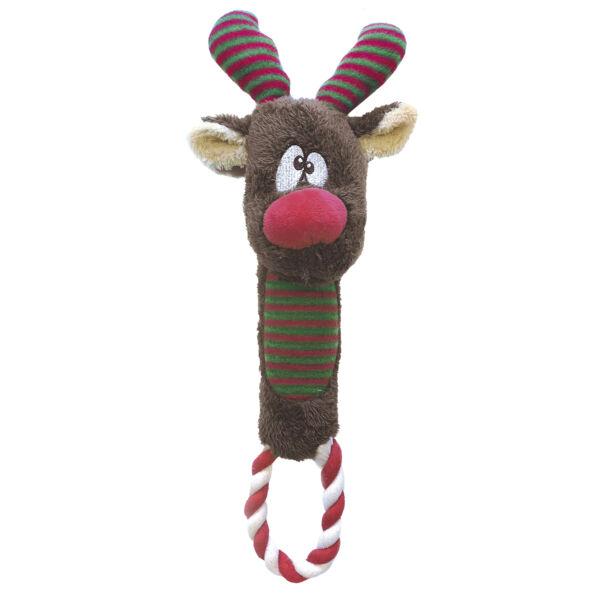 RECORD Karácsonyi Kutyajáték Rénszarvas Köteles 30 cm