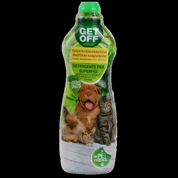 GET OFF tisztító és fertőtlenítő folyadék 750 ml + 250 ml grátisz